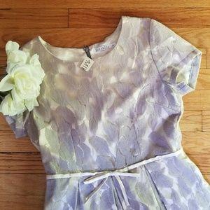 Mikarose Romantic Dress Gray Ivory Medium